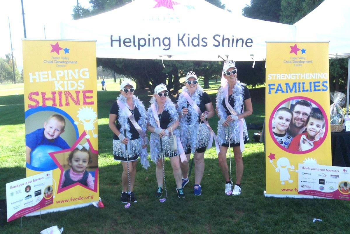 Many of the team dressed up in costume for the recent Helping Kids Shine Charity Golf Classic at Fraserglen Golf Course in Abbotsford. (Submitted photo)