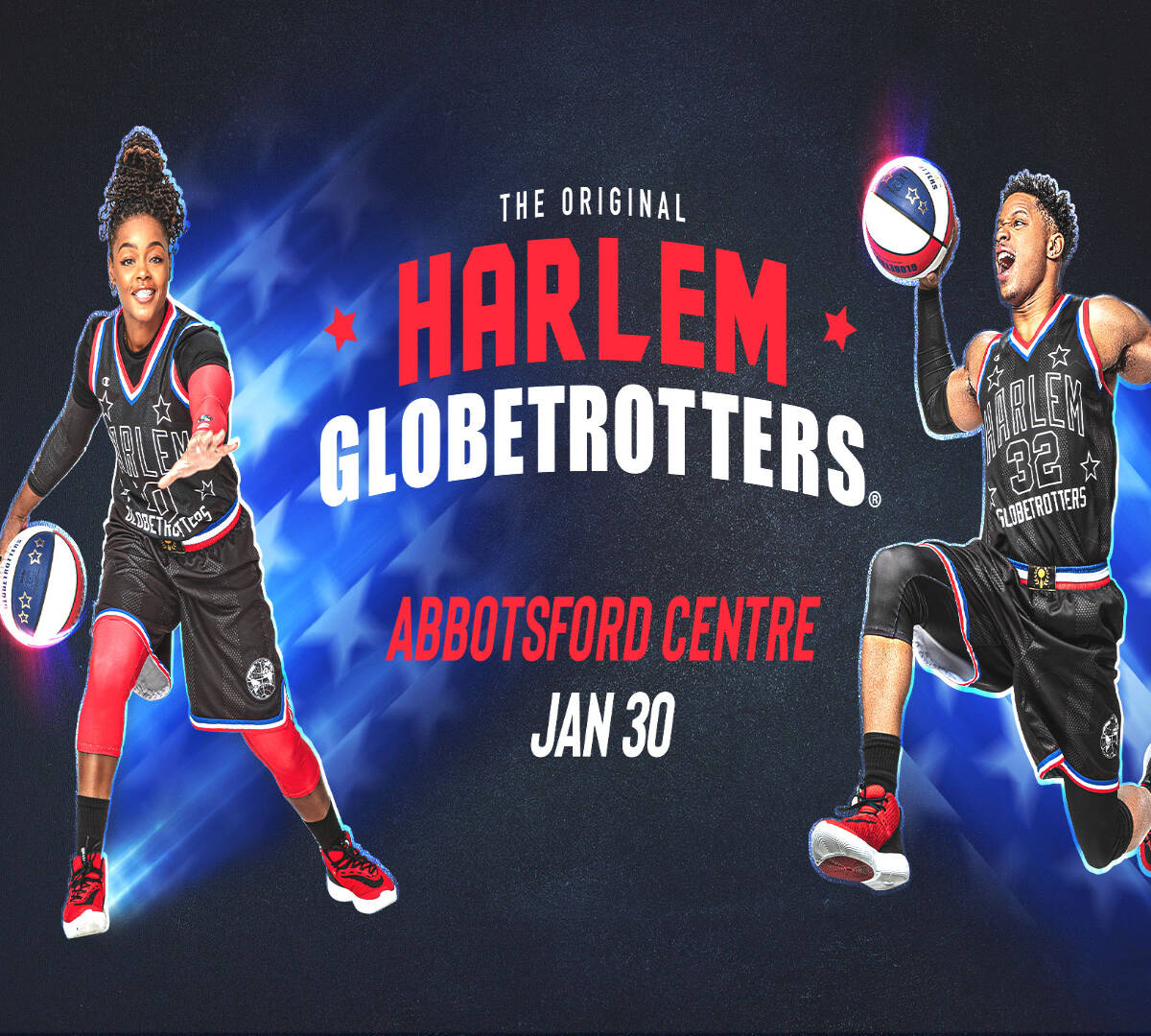 The Harlem Globetrotters are coming to the Abbotsford Centre on Jan. 30, 2022. (Submitted)