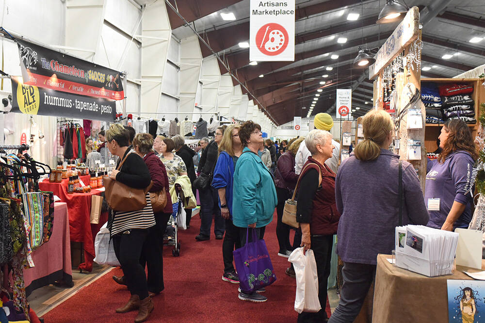 The West Coast Women's Show is among numerous events held annually at Tradex in Abbotsford. A local residents' group is planning to submit a bid for the operation of the facility that would include continuing to hold trade and consumer shows. (Abbotsford News file photo)
